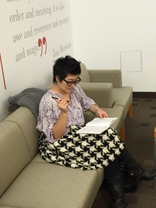 Dr. Tsou prepares her remarks