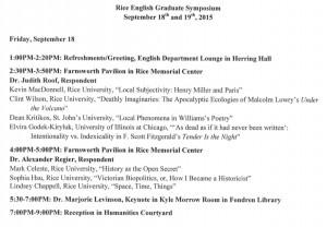 graduate symposium